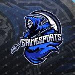 Grim Reaper eSports Logo | Reaper Mascot Logo For Sale