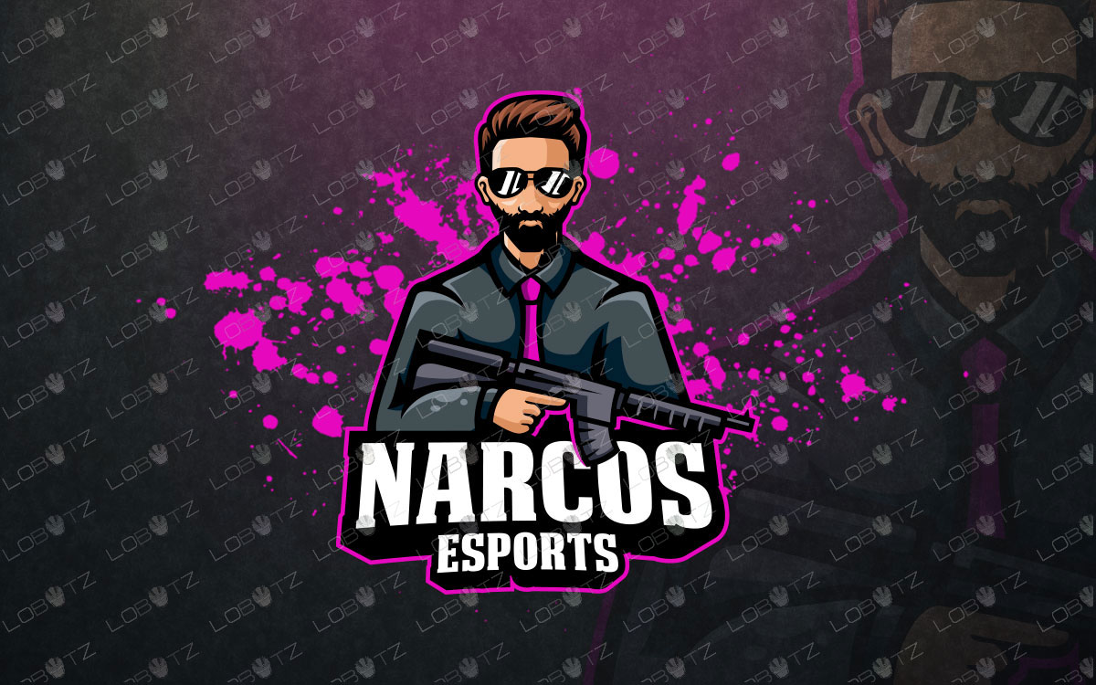 narcos esports logo for sale mascot logo
