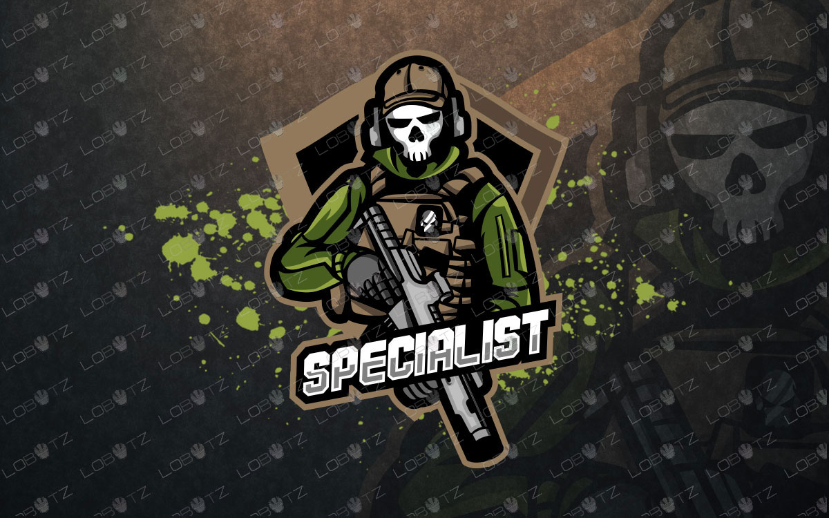 soldier mascot logo skull soldier esports logo