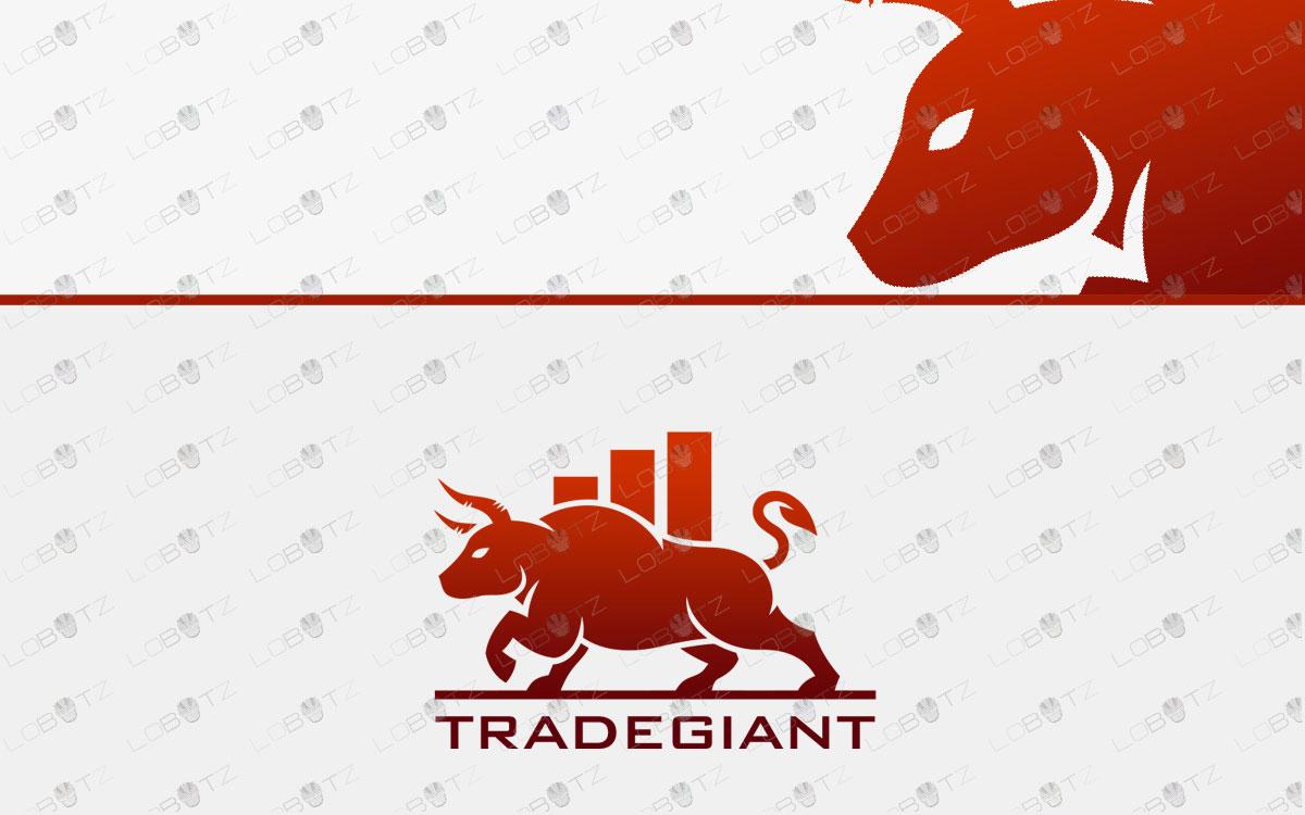 premade trade logo bull logo for sale