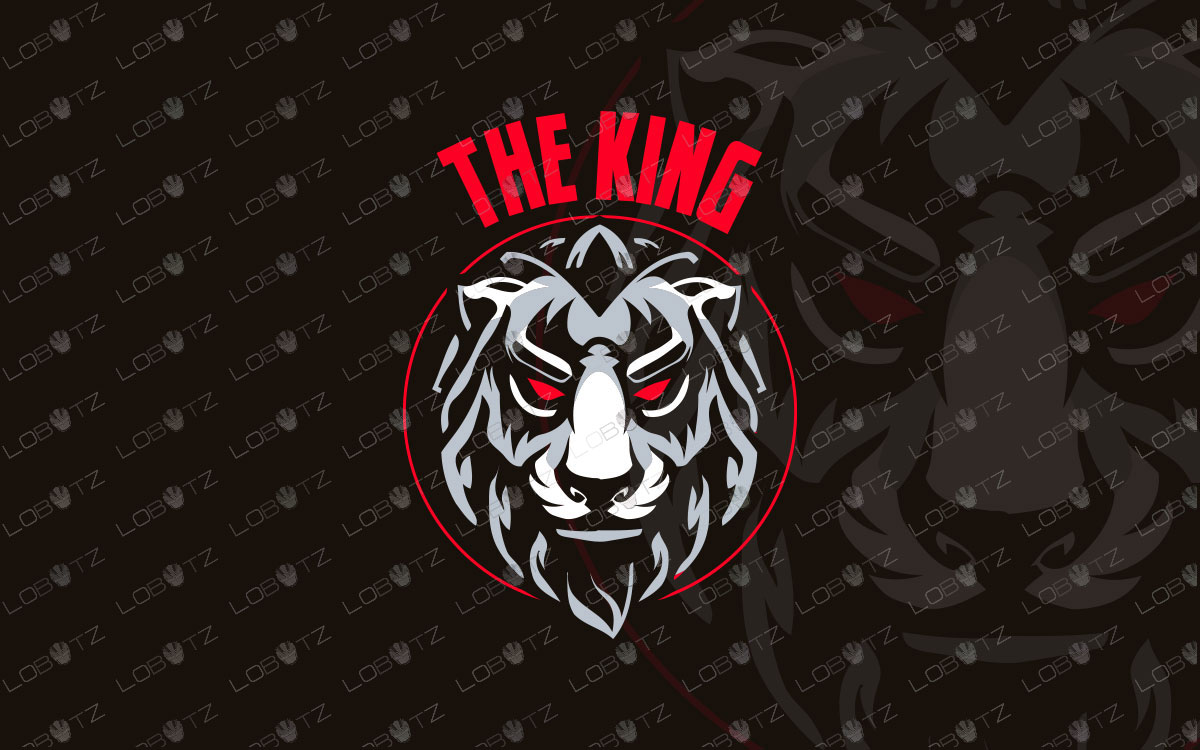 premade lion head logo for sale