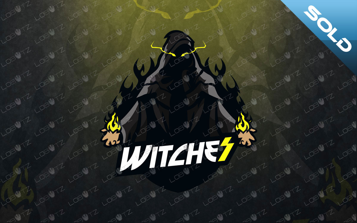 witch esports logo witch mascot logo