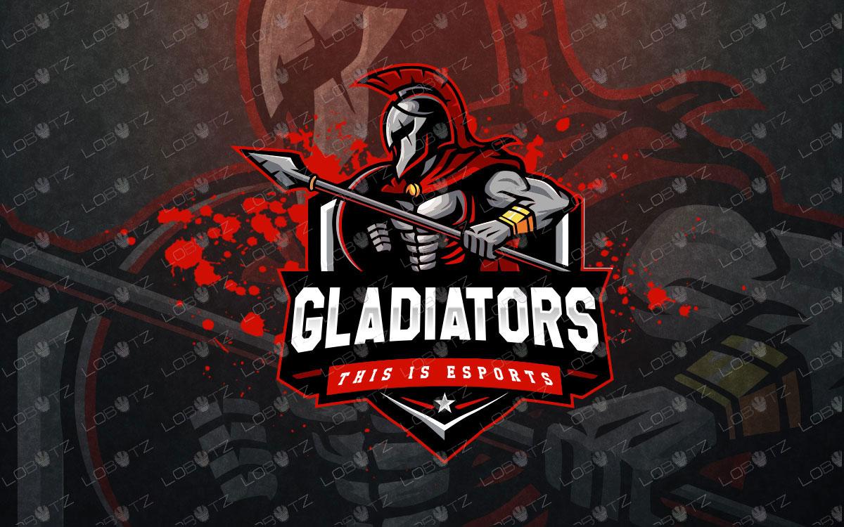 gladiatormascot logo gladiatoresports logo