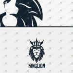 King Lion Head Logo | King Lion Logo For Sale