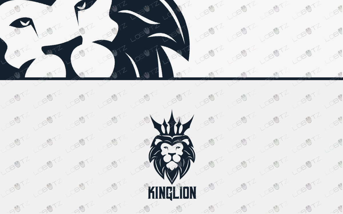 lion head logo for sale premade logo