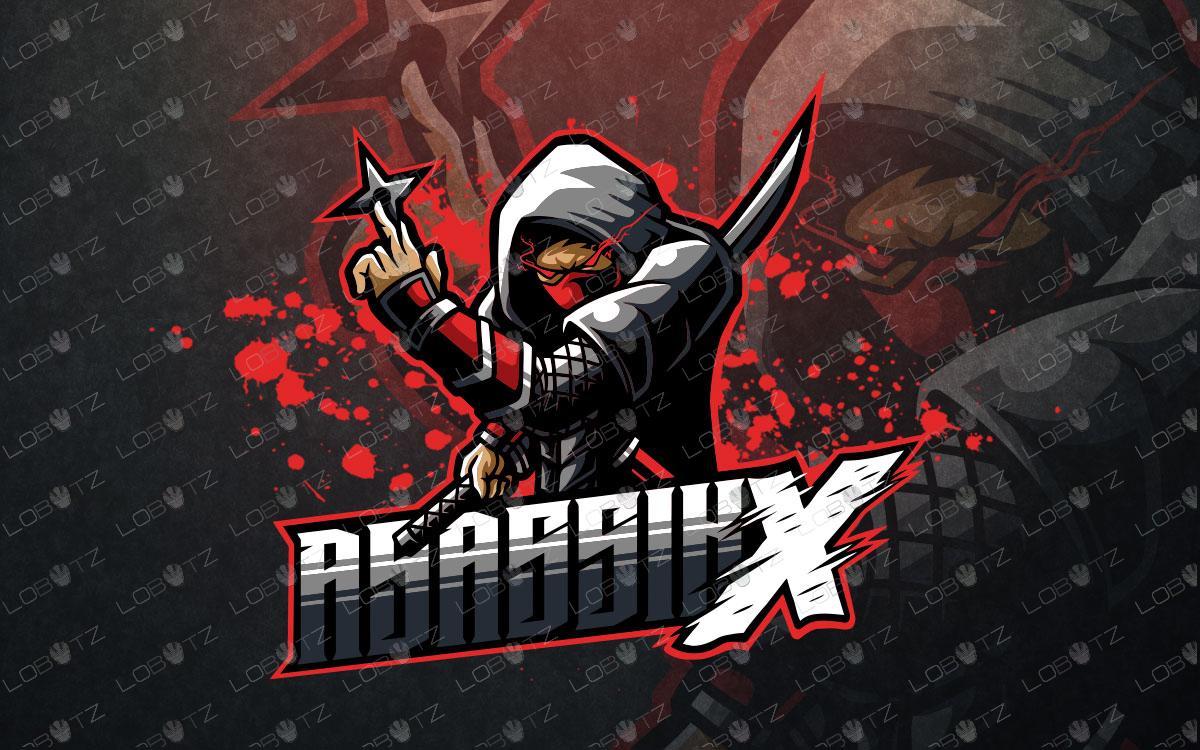 ninja mascot logo for sale ninja esports logo for sale