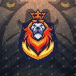 Breathtaking King Lion Mascot Logo | Lion eSports Logo For Sale
