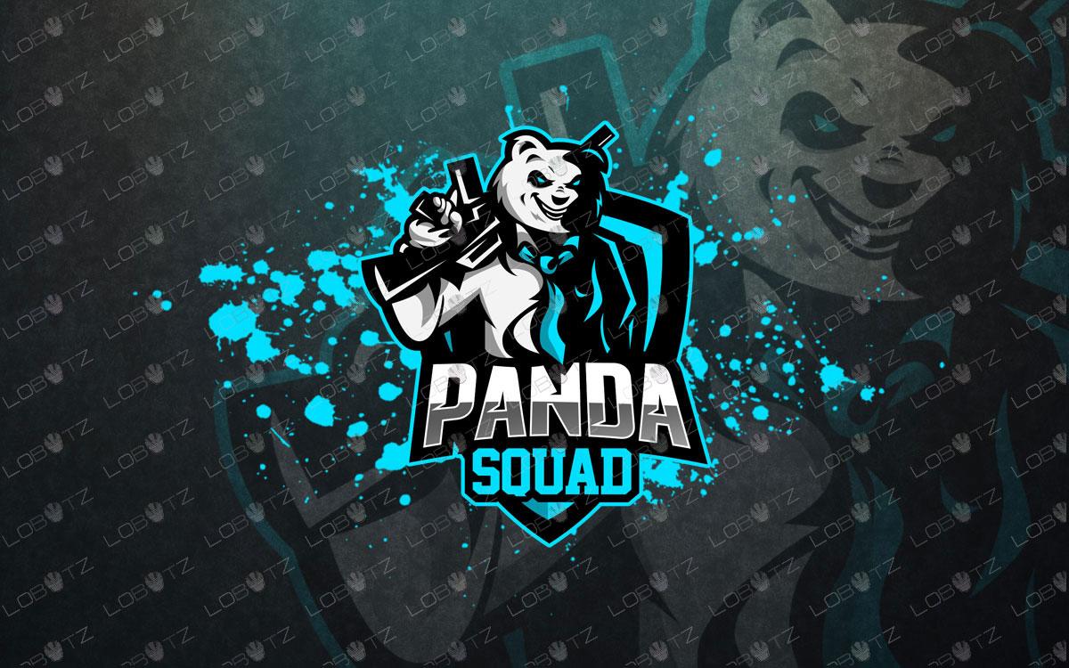 premade panda mascot logo panda esports logo