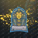 Majestic Pharaoh Mascot Logo | Pharaoh eSports Logo