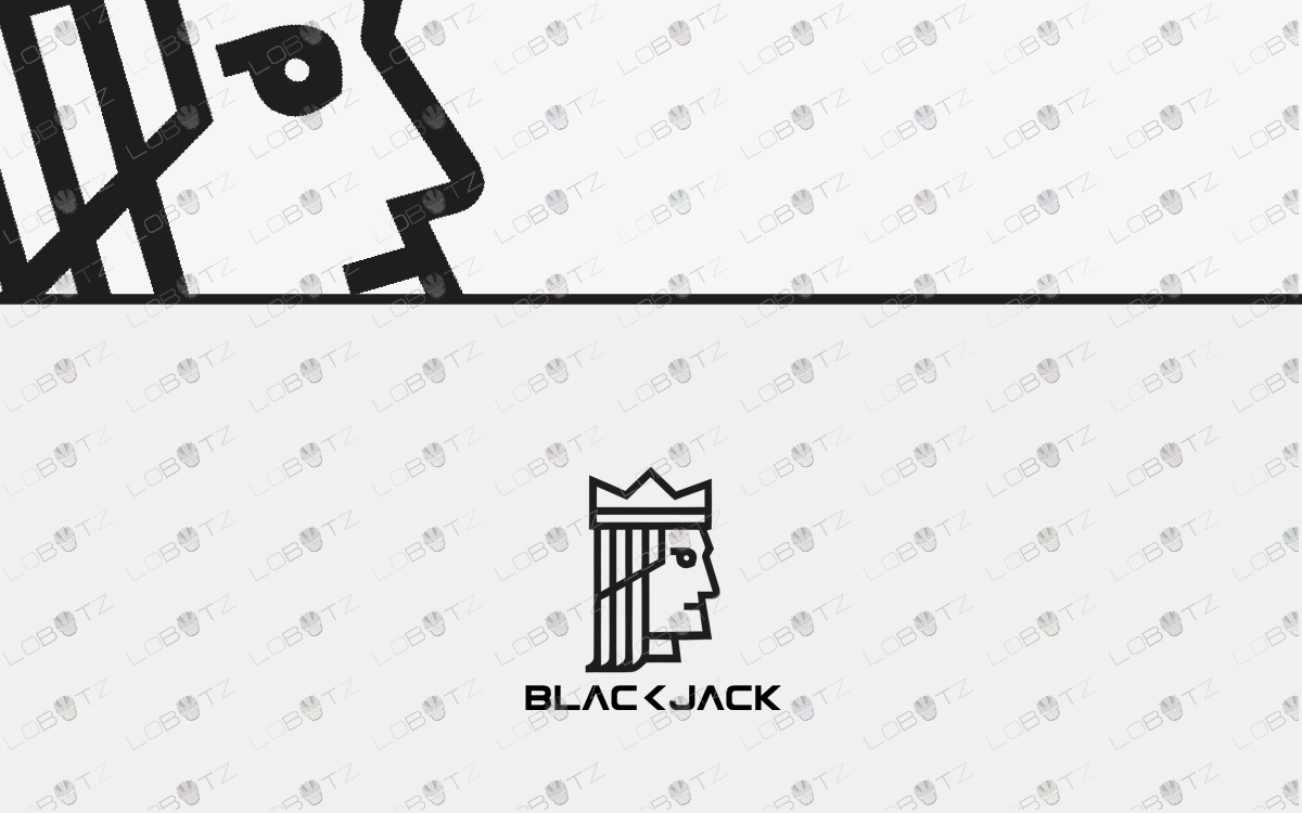 premade blackjack logo for sale