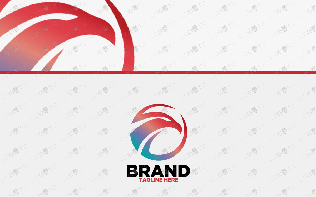 premade premium falcon logo for sale