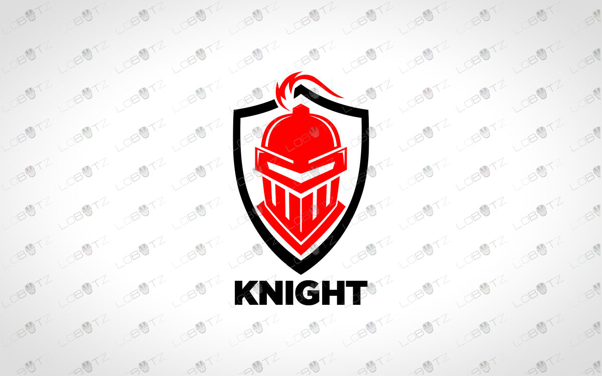 knight head logo for sale premade logo