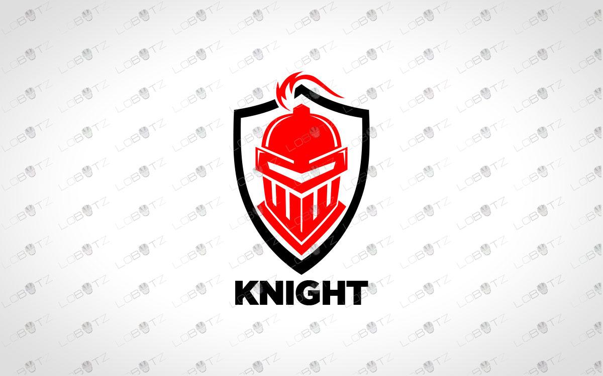knight head logo for sale premade logo