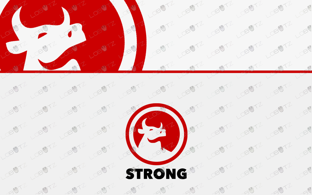 premade bull logo for sale