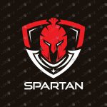 Awesome Spartan Head Logo For Sale