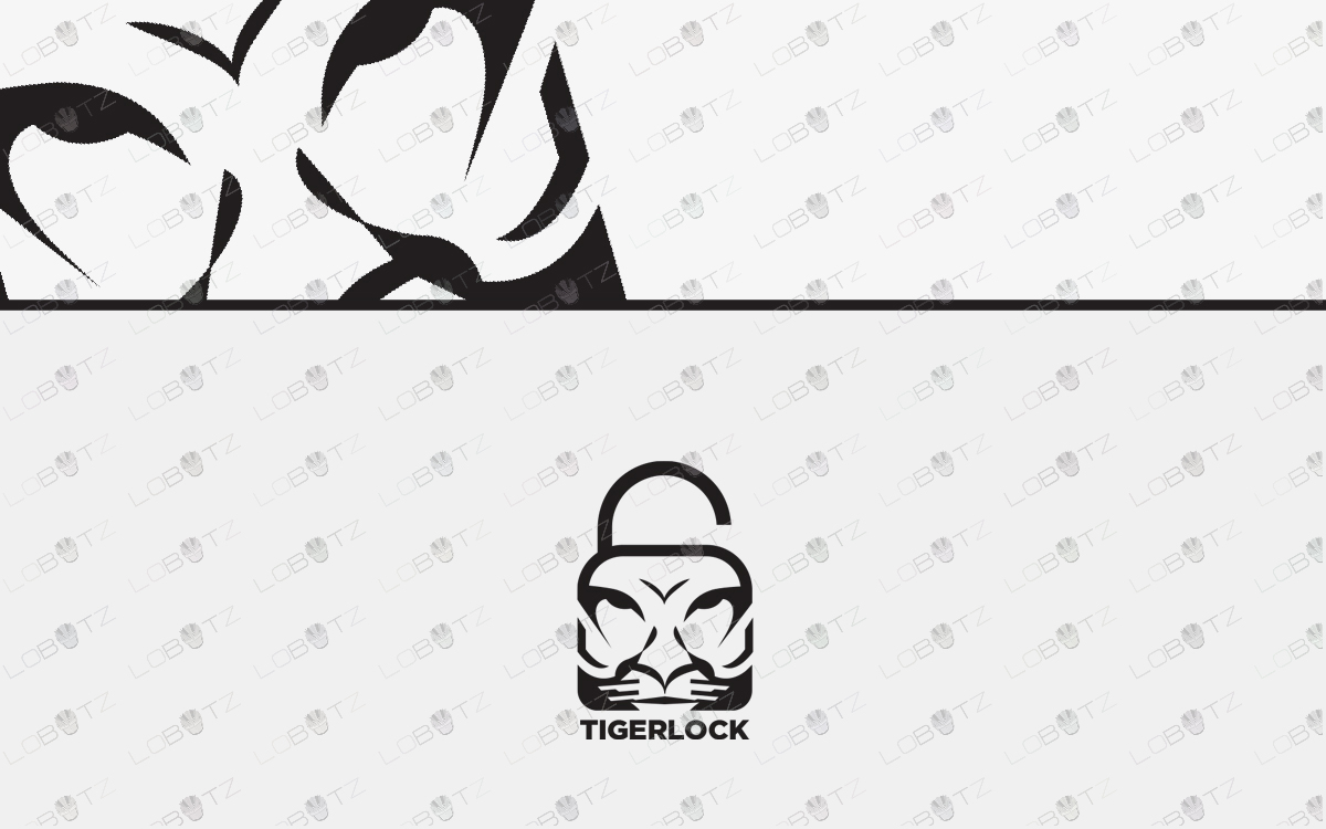tiger lock logo tiger head logo for sale
