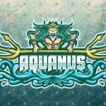 Aquaman Mascot Logo | Poseidon Mascot Logo | eSports Logo For Sale
