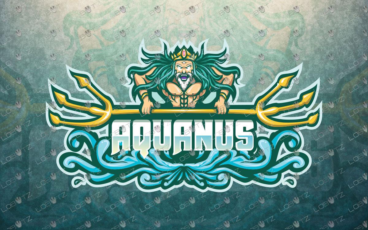 Aquaman mascot logo Aquaman esports logo Poseidonmascot logo for sale