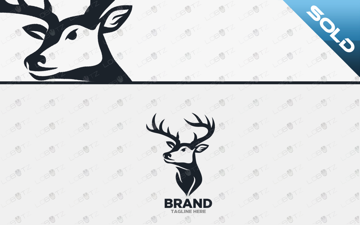 premium logo deer logo for sale