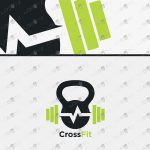 CrossFit Logo Fitness Logo Modern Gym Logo For Sale