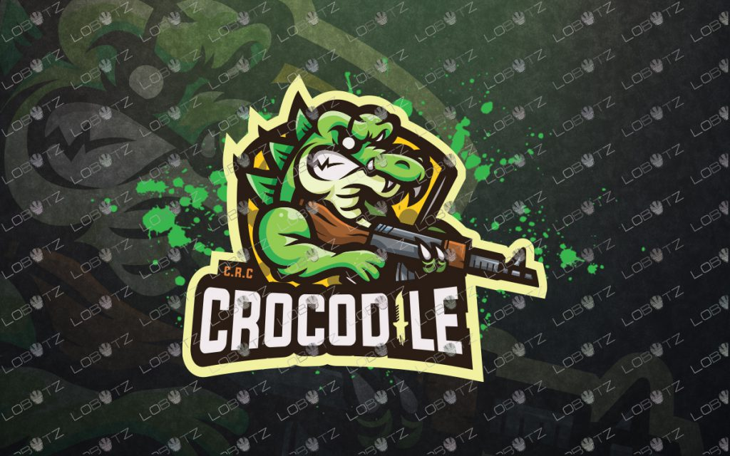 Crocodile Mascot Logo For Sale