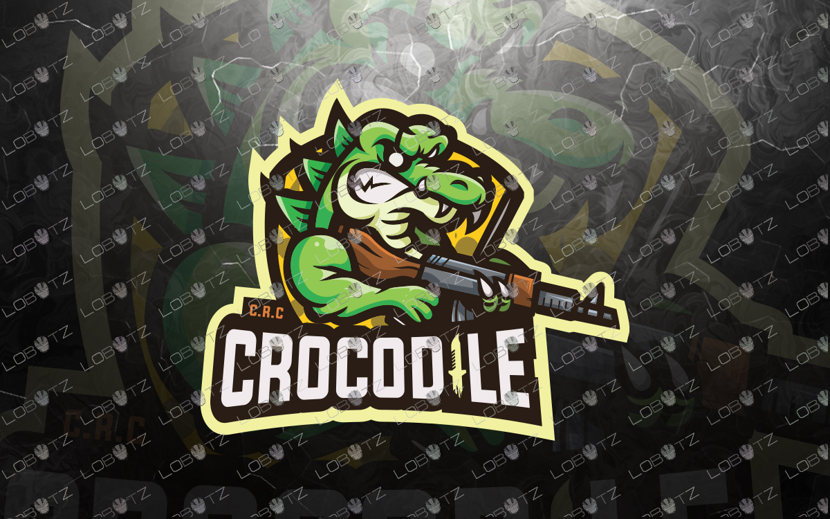 Crocodile Mascot Logo For Sale