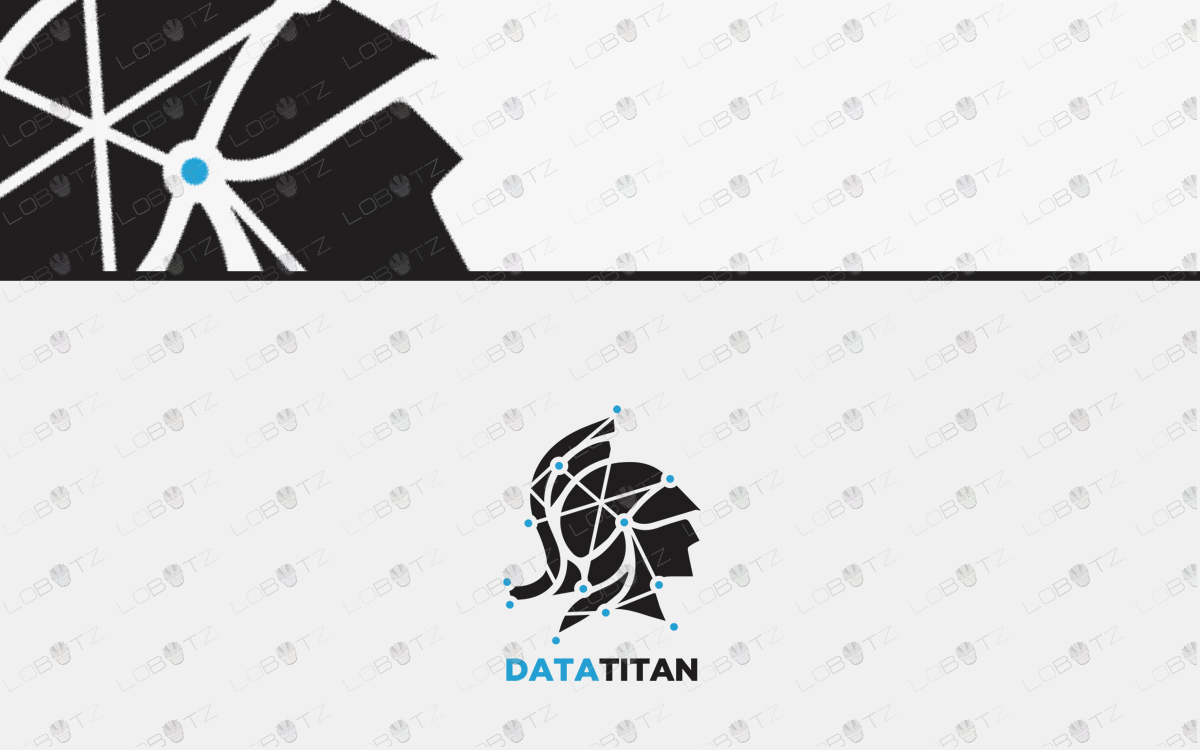premade data titan logo spartan logo for sale