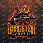 Gangster Samurai Logo | Samurai eSports Logo | Samurai Mascot Logo