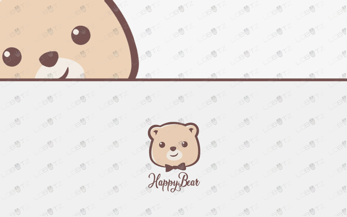 bear logo for sale premade bear logo