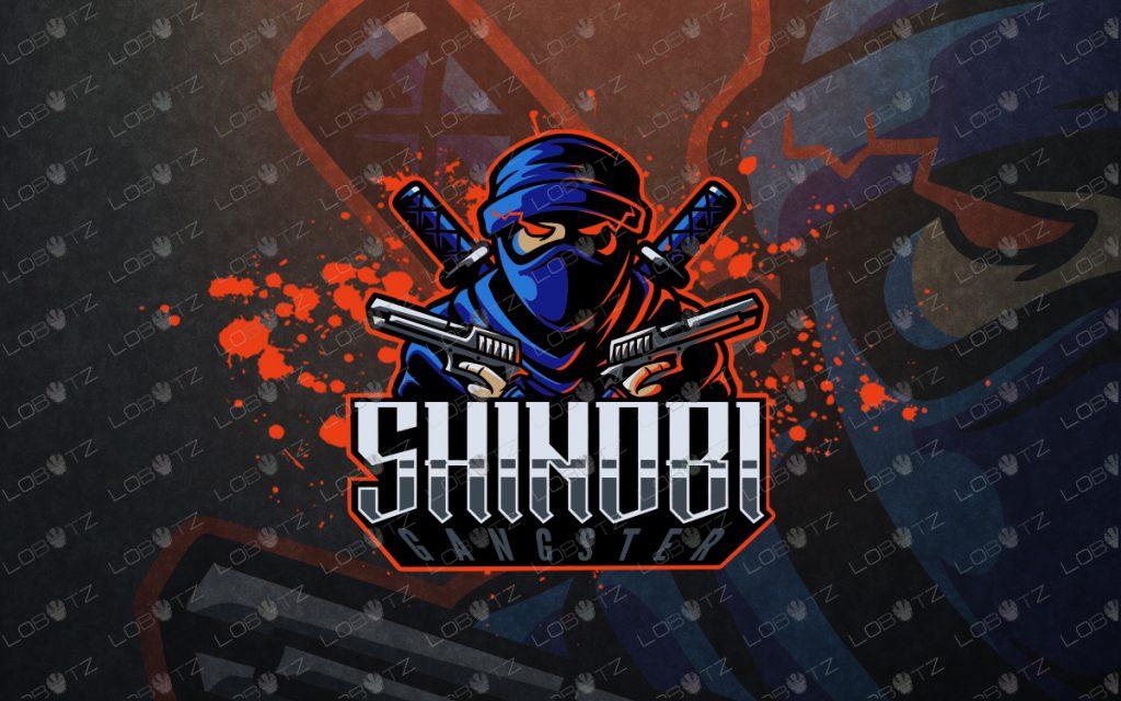 gangster shinobi mascot logo for sale shinobi esports logo premade logos