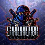Gangster Shinobi Logo | Shinobi eSports Logo | Shinobi Mascot Logo