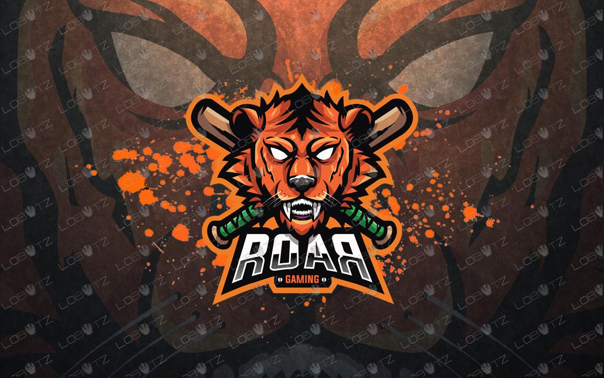 premade tiger mascot logo tiger esports logo