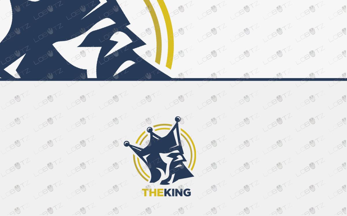 premium king logo premade logo