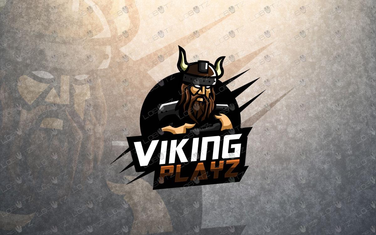 premade gamer viking mascot viking gamer mascot logo