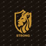 Lion Crest Logo | Royal Lion Crown Logo For Sale