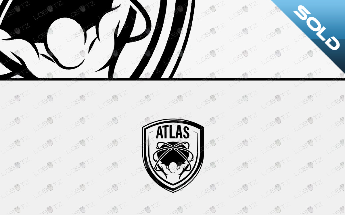premade atlas logo for sale workout logo gym logo