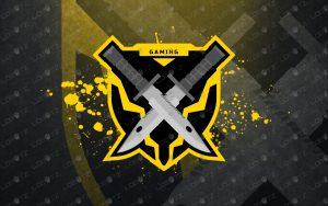 gaming bayonet esports logo mascot logo gaming logo sword logo