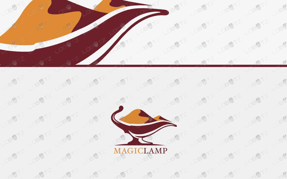 Aladdin Lamp Logo desert logo design