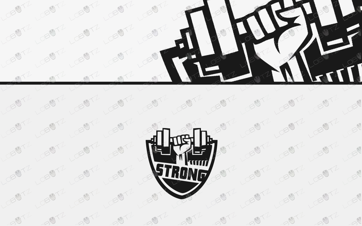 fist logo for sale gym logo for sale