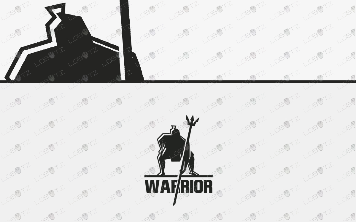 premade spartan warrior Logo for sale