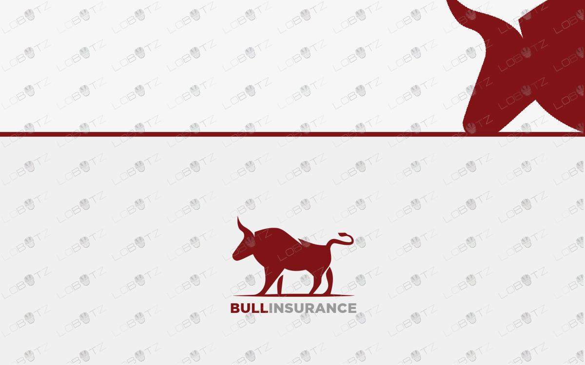 bull logo for sale premade logos