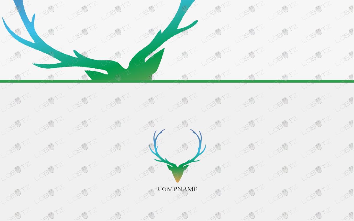 Premium Deer Head Logo For Sale deer logo