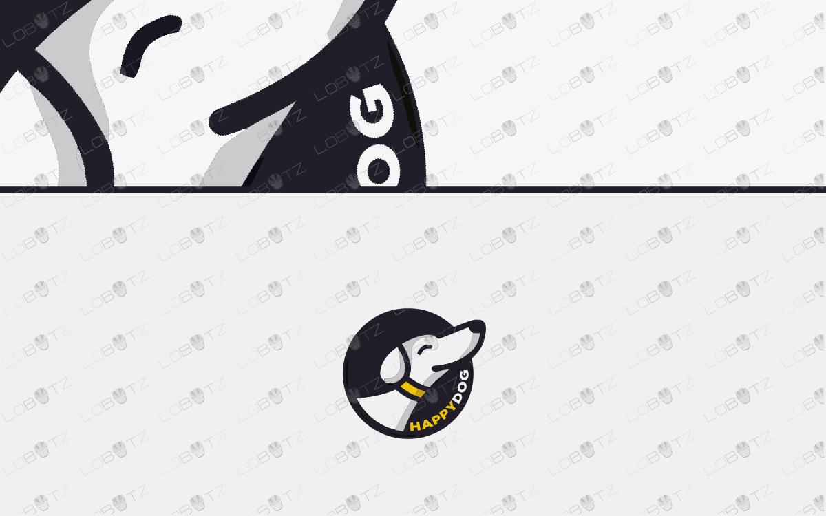 cute dog logo for sale happy dog