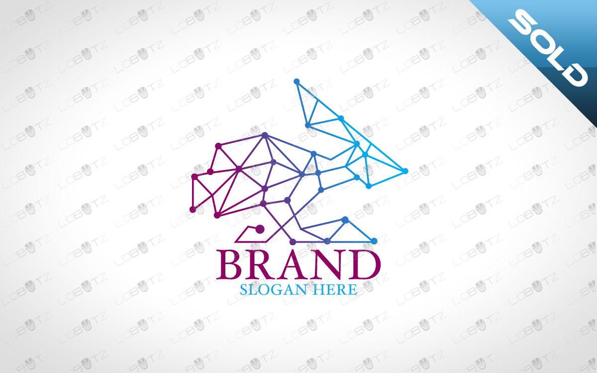 Premade Geometric Rabbit Logo For Sale