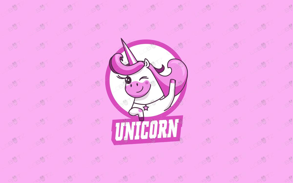cute unicorn logo cute cartoon logo for sale