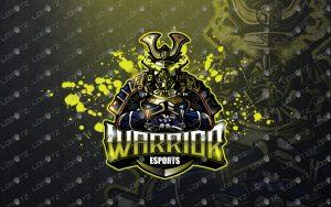 premade samurai mascot logosamurai esports logo
