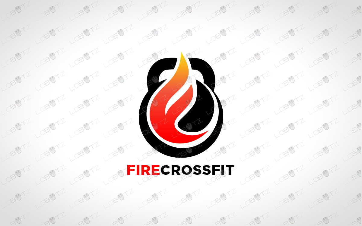 fire crossfit logo fire fitness logo for sale