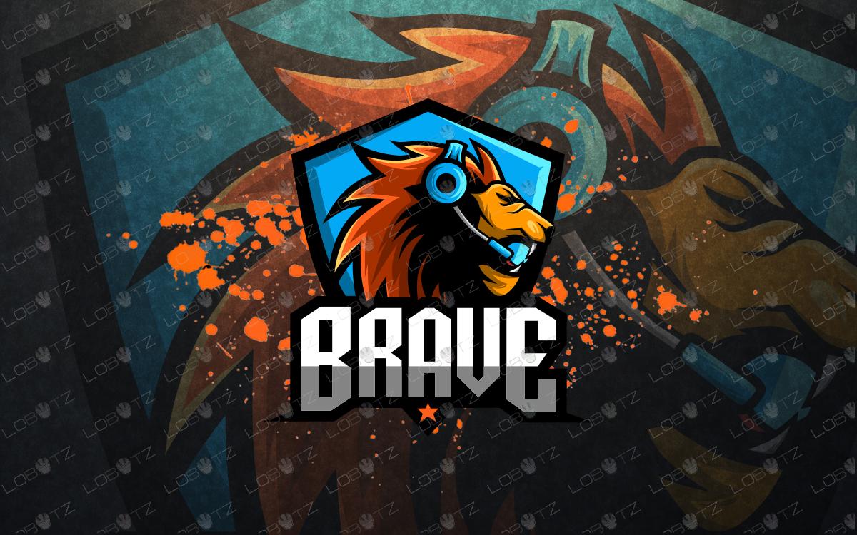 lion mascot logo gamer lion esports logo premade logos