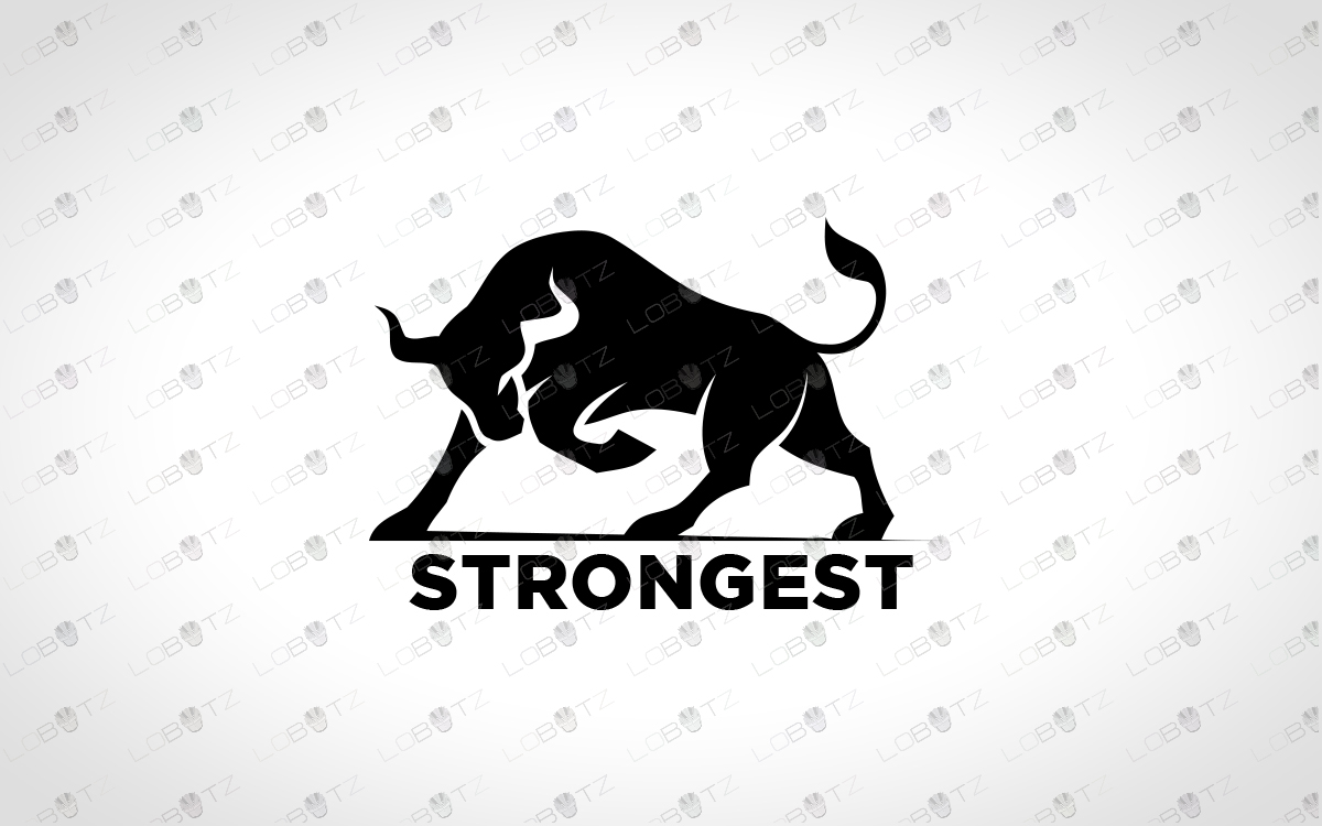 strong bull logo for sale premade logos