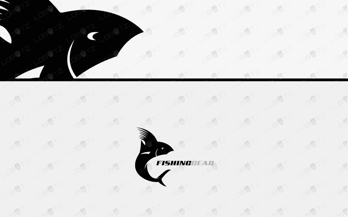 Fishing Logo For Sale fish logo